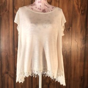 Loose Fit White T